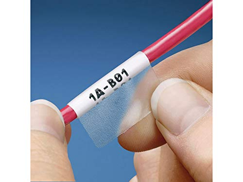 Panduit S200X150YAJ Laser/Inkjet Self-Laminated Label, Polyester, Clear/ White (1,000-Pack)