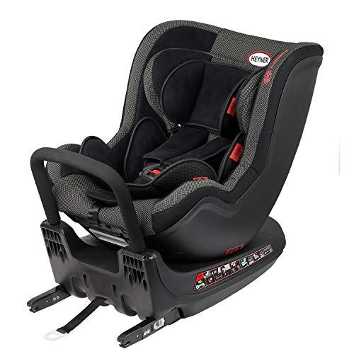 HEYNER® Reboarder Kindersitz drehbar Autokindersitz 360° Geburt - 18kg (schwarz)