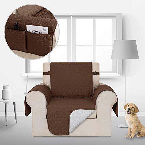 Deconovo Couch husse Sofahusse Sofabezug Sofaüberwurf 54x190 cm Schoko 1-Sitzer
