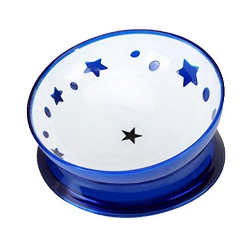 perfk Futternapf Fressnapf schräg Fütterung Schüssel für Bulldogge, Haarhunde, Bagh, Garfield oder andere flaches Gesicht Haustiere - Blau