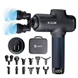 Massage Gun Deep Tissue - KIATA Muscle Massager for Athletes - Percussion Massage Device for Pain Relief with 12 Massage Heads Handheld Electric Back Massager