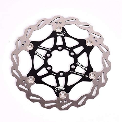 zhouweiwei 160 mm 180 mm 203 mm MTB Freno de Disco de Bicicleta Freno de Disco Diseño de Onda Disco de Freno Metálico Pastillas de Freno de Disco de Bicicleta