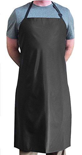 Tuff Apron COMINHKPR122661 Delantal de Chef, Vinilo, negro