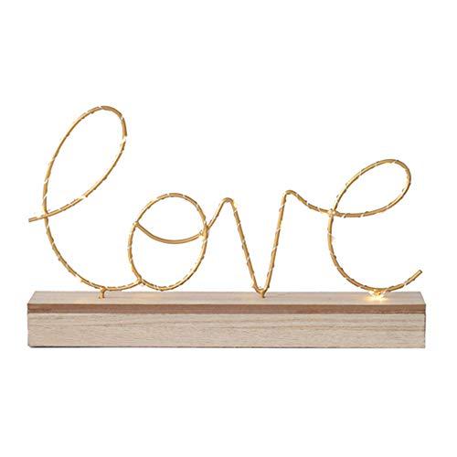 Luces luminosas de letras LED, con pilas Luces iluminadas de madera Decorativas de amor Letreros de letras para el hogar Luces nocturnas para decoraciones de mesa para bodas de fiesta