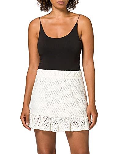 Vero Moda VMLEAH HW Short Skirt JRS GA Falda, Abedul, M para...