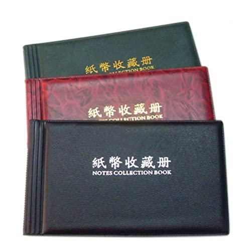 Zonster 20 Page Leather Holder Moneta Album Tasche Collezione Paper Money Collection Grande Bagagli Libro