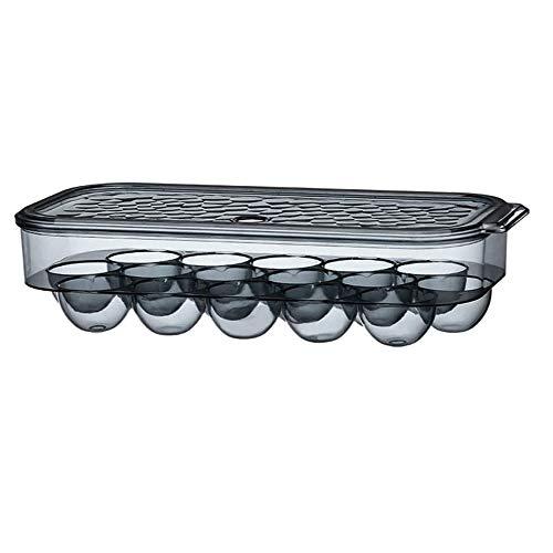 EIKLNN Hueveras de Plastico, Caja con Tapa Huevera, Caja de Almacenamiento de Huevos, Huevera Nevera Apilable, Hueveras para Frigorifico, para Refrigerador, Cocina, Picnic