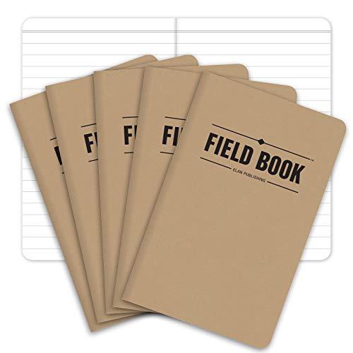 "Elan Publishing ELAN-FN-003A Field Notebook, 3.5"" x 5.5"", Lined Memo Book, Kraft"