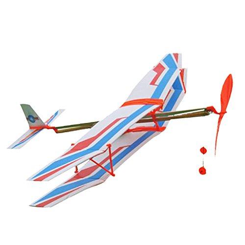 Gummi Band Kunstflug Flugzeug Modellflugzeug DIY Kinder Spielzeug - Blau