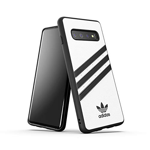 Adidas Originals Moulded Case Samba - Custodia per Samsung Galaxy S10, colore: Bianco/Nero