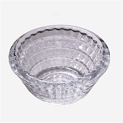 JIAJBG Cenicero Hogar Glass Ash Bandejas Oficina Sala de Estar Claro Cristal Cenicero Cenicero de 3 Pulgadas Ceniza Portátil Bandeja,Gray