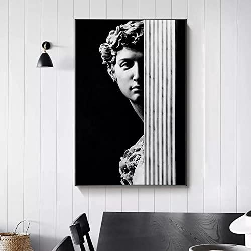 Quadri decorativi David Gesso Statua Arte Scultura Tela Stampa Pittura Nordic Soggiorno Immagine...