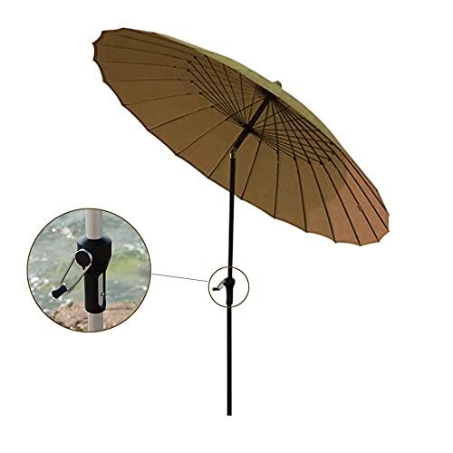 Sonnenschirm-Regenschirm im Freien Runde Regenschirm, winddichter Offset-Regenschirm mit 8 robusten Rippen, eleganter Weinlese-Patio-Regenschirm für sonnige Tage