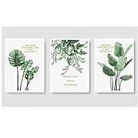 キャンバスポスター、北欧スタイルのポスターとプリント熱帯スカンジナビアの緑の植物キャンバスの装飾壁画フレームなし