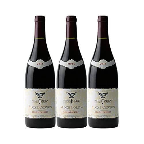 Aloxe-Corton 1er Cru Les Valozières Rouge 2016 - Domaine Gérard Julien - Vin AOC Rouge de Bourgogne - Lot de 3x75cl - Cépage Pinot Noir