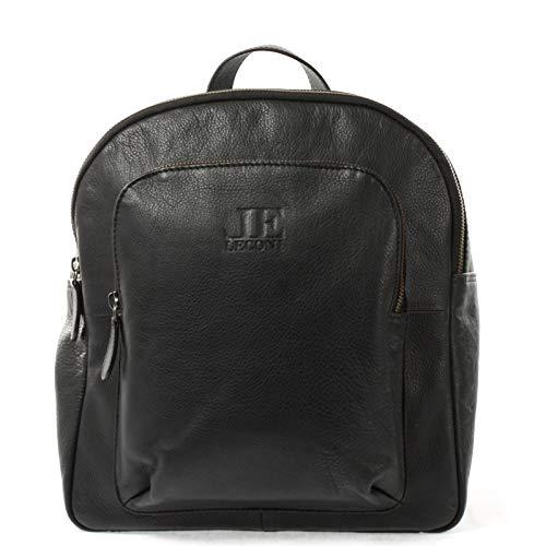 LECONI kleiner Rucksack Freizeitrucksack Damenrucksack backpack Cityrucksack Lederrucksack für Damen und Herren Rindsleder Nappa Leder 28x30x15cm schwarz LE1024-nap