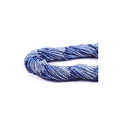 Neerupam Collection 2 mm Opalo Azul Natural facetado rondelle Semi Preciosas Piedras Preciosas Perlas Sueltas para la elaboración de Joyas Pendiente de la Pulsera Collar, Lote de 1 hebras