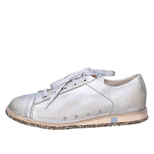 MOMA Sneakers Damen Leder Silber 37 EU