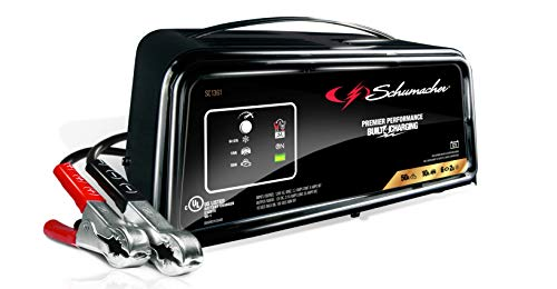 Schumacher Fully Automatic Battery Charger, Maintainer, and Starter – 50 Amp/10 Amp, 12V - Car, SUV, and Small Trucks