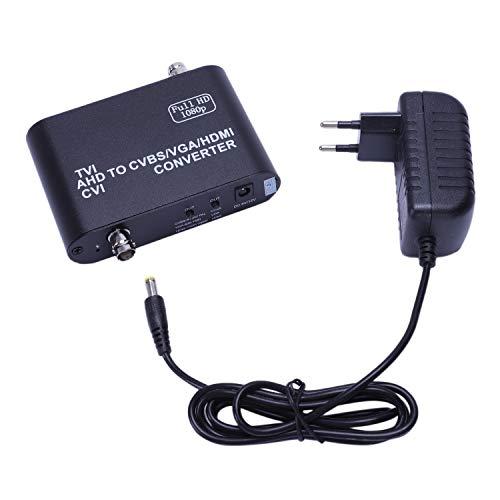 Tuneway Full HD 1080P Tvi/Cvi/Ahd una Cvbs/Vga/Converter HD Video Converter (Enchufe EU)