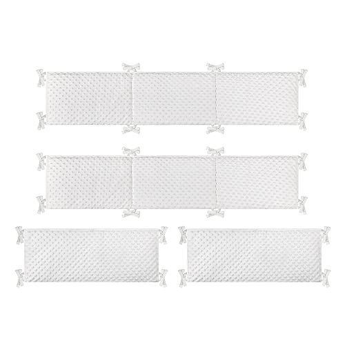 Breathable Baby Crib Liner Bed Bumper Pads Around Cushion Cot Protector Washable Baby Protector Pads Cot Bumper Safe Anti-Bump Baby Bed Bumper Padded Crib Liners for Toddler Boy Girl