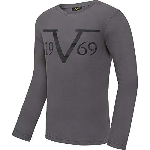 Versace 1969 Abbigliamento Sportivo SRL 19V69 Langarmshirt Rundhals V117 by (Model: C595 - Herren, anthrazit; Größe: L) FBA
