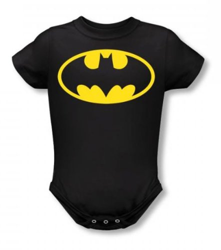 Batman - - Bébés Classic T-shirt In Black, 0-6 Months, Black