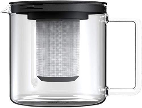 BOHEMIA CRISTAL Teekanne zylindrisch, mit Metallsieb, Inhalt: 1,30 Liter