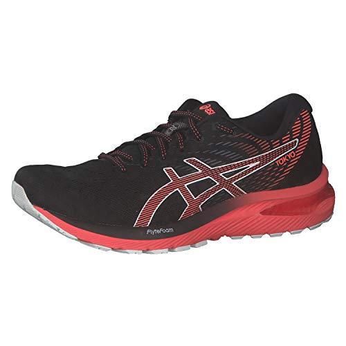 ASICS Herren 1011B078-001_42,5 Running Shoes, Black Sunrise Red, 42.5 EU