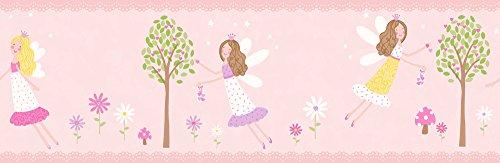Decorline Carousel Fairy Garden-Cenefa de jardín, Rosa