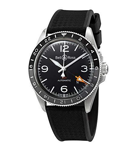 Bell & Ross Vintage BR V2-93 GMT orologio da uomo BRV293-BL-ST/SRB