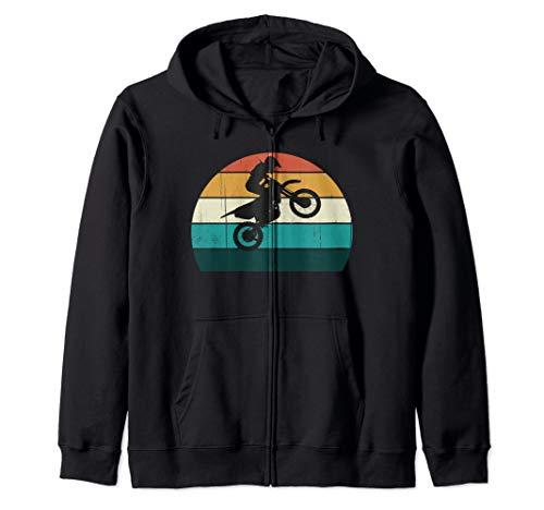Retro Sunset Biker Vintage Motorsport / Motorcross Motorrad Kapuzenjacke