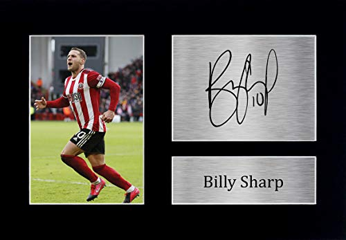 HWC Trading Billy Sharp Sheffield United Sheff Utd Gifts Printed Signed Autograph Picture for Fans and Supporters - A4