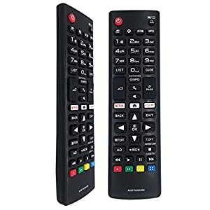 FOXRMT Reemplazo Mando TV LG AKB75095308 para Mando LG Smart TV Compatible con Mando a Distancia Universal LG AKB75095307 AKB74915324 AKB75095308