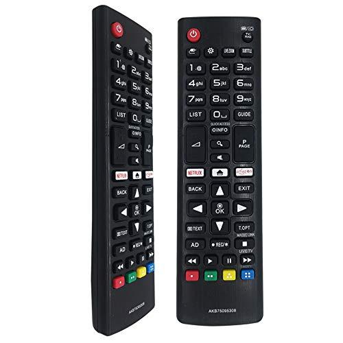 FOXRMT TV Telecomando AKB75095308 Sostitutivo Telecomando TV LG per LG Ultra Smart HD TVs - Nessuna Configurazione Necessaria Telecomando LG Universale