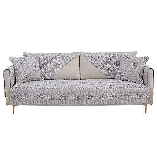 Hybad 2/3/4/5 Seater bankovertrek, voor woonkamer, katoen, bank, slipcover cover, geborduurd, omkeerbaar, sofa-kussen, beschermhoes, kinderen Play mat