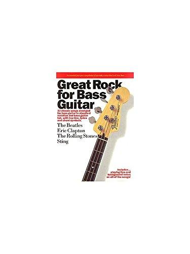 Great Rock For Bass Guitar. Partituras para Guitarra Bajo(S