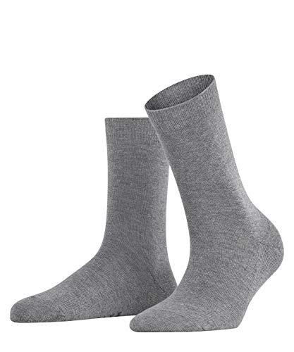 FALKE Damen Socken Family - 94prozent Baumwolle, 1 Paar, Grau (Grey Mix 3399), Größe: 35-38