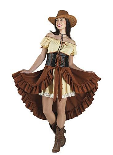 chiber Disfraces Disfraz Vaquera Chica Saloon Western