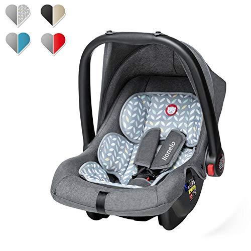 Lionelo Noa Plus Kindersitz, Autokindersitz Gruppe 0+ (0 bis 13 kg), ab Geburt, ECE R44/04, TV (Grau)
