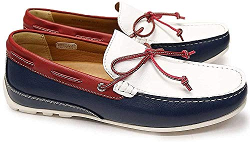 [リーガル] 靴 ドライビングモカシン 55PR メンズ カジュアルシューズ ホワイトトリコロール 26.0cm