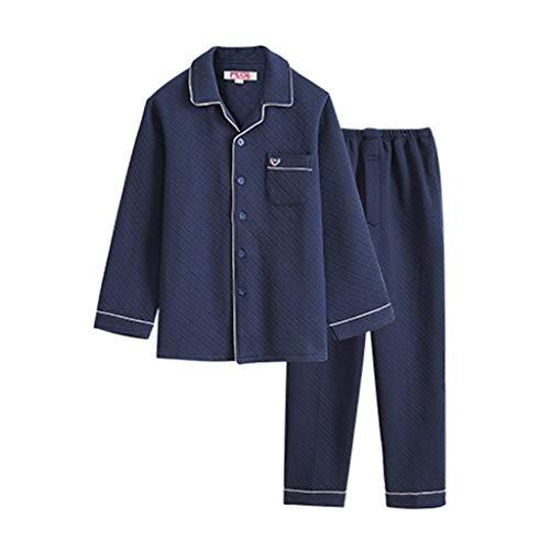 NOSSON Pyjama Set Four Seasons Pyjamas Cotton Family Pyjamas Blue Herren...