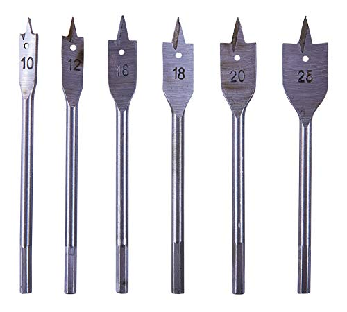 Amtech F1400 Flat Wood Bit Set, 6-Piece
