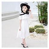 Hcxbb-1 Niñas Patinador Vestido Niños □ Color Plain Color Fiesta de Moda Vestidos de Hombro Disfraces de niños Estilo Casual para niñas 6 8 10 12 14 (Color : 0292527 2, Kid Size : 9)