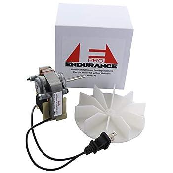 Endurance Pro Universal Bathroom Vent Fan Motor Complete Kit Replacement for C01575 50 CFM 120V