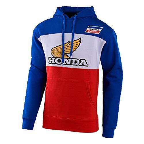 Troy Lee Designs Honda Retro Wing Pullover Hoodie Blau Weiß Größe S