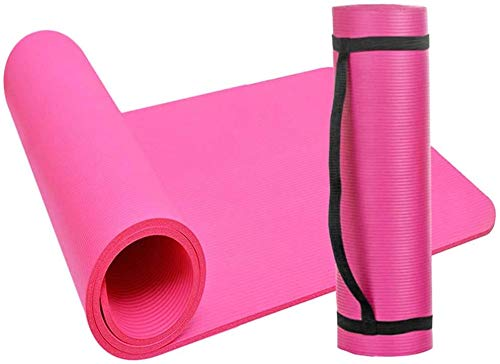 Hydra Yogamatte, 183 cm x 61 cm, 10 mm dick, auch ideal als Campingmatte, rot