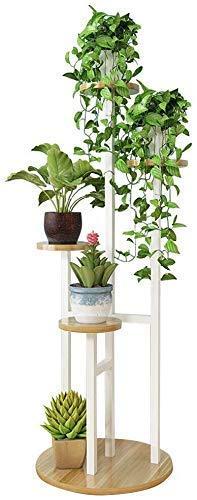FANMENGY Titular flor Planta de flor de madera Bastidores soporte cubierta Holder Flower Pot al aire libre Jardín Patio Balcón Tall rama de árbol Bonsai marco de la exhibición estante de metal, de alt