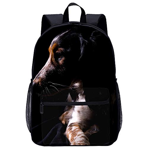 Dog Backpack Animal Print Large Casual Laptop Book Bag for Teenager Back To School Best Gift (10)