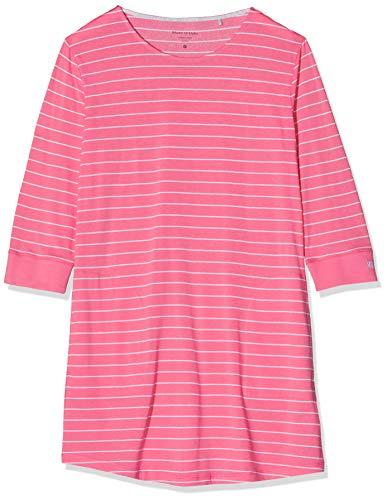 Marc O'Polo Body & Beach Damen W-Sleepshirt Crew-Neck Nachthemd, Rot (Grapefruit 526), 36 (Herstellergröße: S)
